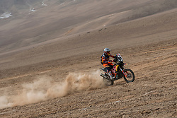 Luciano Benavides (ARG) of Red Bull KTM Factory Team races during stage 04 of Rally Dakar 2019 from Arequipa to o Tacna, Peru on January 10, 2019 // Marcelo Maragni/Red Bull Content Pool // AP-1Y39DRBZ52111 // Usage for editorial use only // Please go to www.redbullcontentpool.com for further information. //