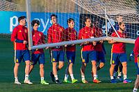 Saul Iniguez, Mikel Merino , Alvaro Odriozola during the training of Spanish national team under 21 at Ciudad del El futbol  in Madrid, Spain. March 21, 2017. (ALTERPHOTOS / Rodrigo Jimenez)