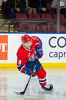 KELOWNA, BC - MARCH 13: Jake McGrew #8 of the Spokane Chiefs skates against the Kelowna Rockets at Prospera Place on March 13, 2019 in Kelowna, Canada. (Photo by Marissa Baecker/Getty Images)
