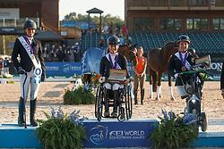 Hart Rebecca, USA, Van Der Horst Rixt, NED, dr. Angelika Trabert, GER, <br /> World Equestrian Games - Tryon 2018<br /> © Hippo Foto - Sharon Vandeput<br /> 22/09/2018