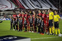 November 1, 2017 - Seville, Spain - Lineup of Spartak before the UEFA Champions League Group E soccer match between Sevilla FC and Spartak Moskva at Estadio Ramon Sanchez Pizjuan (Credit Image: © Daniel Gonzalez Acuna via ZUMA Wire)
