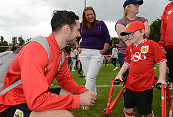 Greg Cunningham of Bristol City speaks with Oskar Pycroft - Photo mandatory by-line: Dougie Allward/JMP - Mobile: 07966 386802 - 05/07/2015 - SPORT - Football - Bristol - Brislington Stadium - Pre-Season Friendly