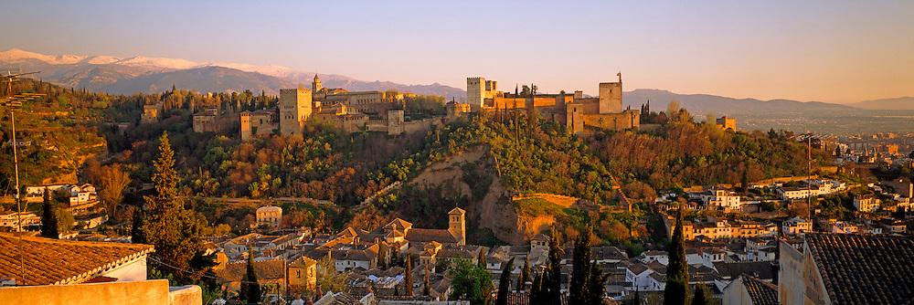SPAIN, ANDALUSIA, GRANADA the Alhambra; 14thc Moorish palace city