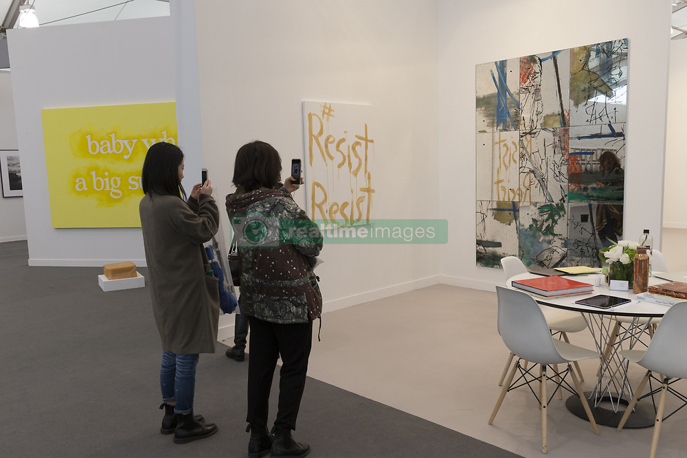 May 5, 2017 - New York, New York, United States - New Yorkers attend and examine contemporary art at Frieze Art fair New York presented by Deutsche Bank at Randalls Island in New York (Credit Image: © Lev Radin/Pacific Press via ZUMA Wire)