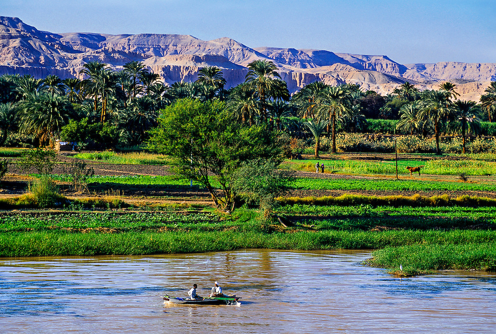 Boat on the Nile River, Luxor, Egypt