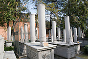 Turkey, Istanbul, The cemetery around the tomb of Sultan Mahmut II
