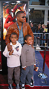Cube Gooding Jr. & kids.Spider Man Premiere .Mann Village Theatre.Westwood, Los Angeles, CA.April 29, 2002.Photo By Antoine Desert/Celebrityvibe.com..