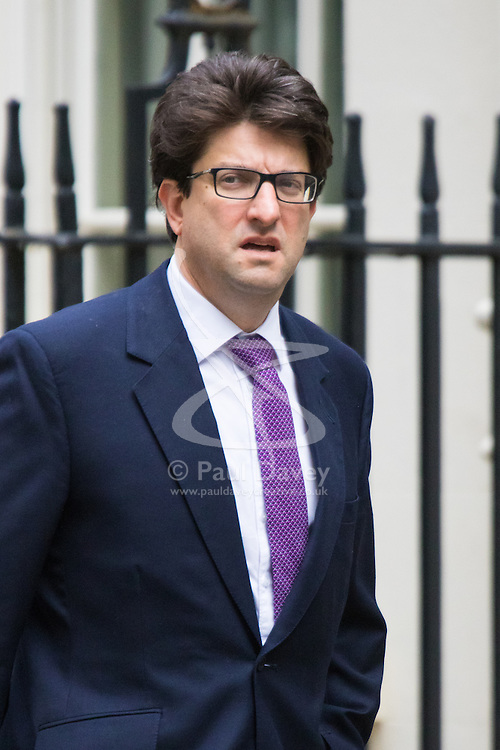 Downing Street, London, June 16th 2015. Conservative Party Chairman Lord Feldman  arrives at 10 Downing Street for the weekly cabinet meeting.