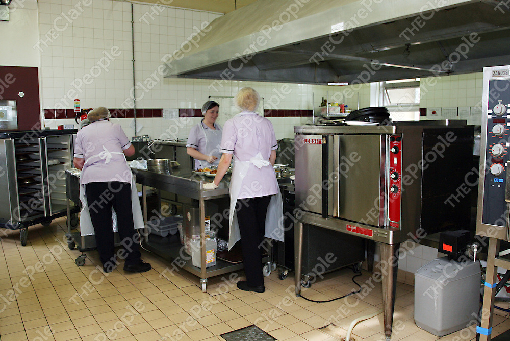 The kitchen at Ennis General Hospital.<br /><br />Photograph by Yvonne Vaughan.