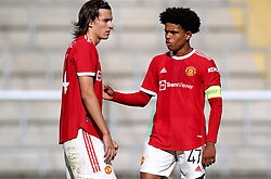 Manchester United's Shola Shoretire (right) during the UEFA Youth League, Group F match at Leigh Sports Village, Manchester. Picture date: Wednesday September 29, 2021.