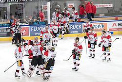08.07.2016, Tiroler Wasserkraft Arena, Innsbruck, AUT, EBEL, HC TWK Innsbruck Die Haie vs HC Orli Znojmo, 8. Runde, im Bild Zneim Feiert den 2:3 Erfolg über Innsbruck // during the Erste Bank Icehockey League 8th Round match between HC TWK Innsbruck Die Haie and HC Orli Znojmo at the Tiroler Wasserkraft Arena in Innsbruck, Austria on 2016/10/08. EXPA Pictures © 2016, PhotoCredit: EXPA/ Johann Groder
