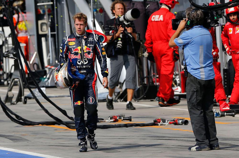 .Sebastian Vettel (GER), Red Bull Racing ..2012 FIA Formula One World Championship - Italian Formula One Grand Prix, Circuit Autodromo Nazionale di Monza, Monza, Italy. Sunday 9th September 2012...