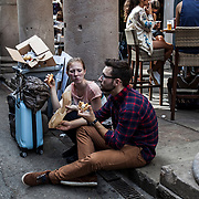 """Half of the tourists visiting Barcelona only spend a few hours in the city. Short trips, fast food: life is tailored to the comfort and the needs of a """"global"""" market that is recognisable and """"safe"""" for the tourists‒but forces the locals to change their habits."""