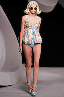 Milana Keller walks the runway  at the Christian Dior Cruise Collection 2008 Fashion Show
