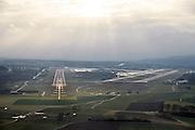 runway approach shot Zurich Airport (IATA: ZRH, ICAO: LSZH) also called Kloten Airport