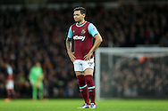 Mauro Zarate of West Ham United looks on. Barclays Premier league match, West Ham Utd v Stoke city at the Boleyn Ground, Upton Park  in London on Saturday 12th December 2015.<br /> pic by John Patrick Fletcher, Andrew Orchard sports photography.