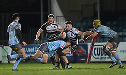 Alex Webber of Pontypridd in action <br /> <br /> Photographer Mike Jones/Replay Images<br /> <br /> Principality Premiership - Neath v Pontypridd - Friday 16th March 2018 - The Gnoll Neath<br /> <br /> World Copyright © Replay Images . All rights reserved. info@replayimages.co.uk - http://replayimages.co.uk