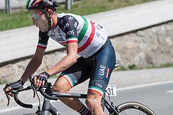 19.04.2018, Lienz, AUT, Tour of the Alps, Österreich, 4. Etappe, von Klausen nach Lienz (134,3 km), im Bild Fabio Aru (ITA, UAE Team Emirates) // Fabio Aru of Italy Team UAE Team Emirates during 4th stage from Klausen to Lienz of 2018 Tour of the Alps in Lienz, Austria on 2018/04/19. Lienz, Austria on 2018/04/19. EXPA Pictures © 2018, PhotoCredit: EXPA/ Reinhard Eisenbauer