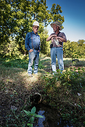 Master naturalists at Big Spring, Great Trinity Forest, Dallas, Texas, USA