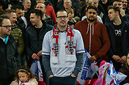 An England fan during the UEFA European 2020 Qualifier match between England and Czech Republic at Wembley Stadium, London, England on 22 March 2019.