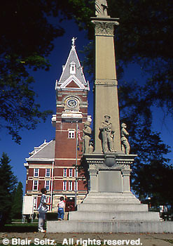Courthouse town square. Clarion, Clarion Co., PA.