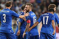 Nice (Francia) 07-06-2017 Stadio Allianz Riviera Friendly match Italia - Uruguay / Italy - Uruguay foto Image Sport/Insidefoto<br /> nella foto: esultanza gol Daniele De Rossi