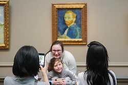 Tourists taking selfies in the Art Museum in Washington DC in the United States. From a series of travel photos in the United States. Photo date: Saturday, March 31, 2018. Photo credit should read: Richard Gray/EMPICS