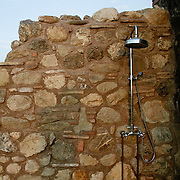 A luxury outern shower near Pisa in Toscana. Italy.