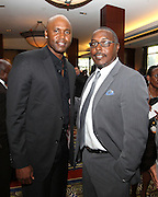 ATLANTA, GA - MAY 14:  Former MLB players Cliff Floyd (left) and Jeffrey Hammonds attend the MLB Beacon Awards Banquet at the Omni Hotel on May 14, 2011 in Atlanta, Georgia.  (Photo by Mike Zarrilli/Getty Images)