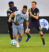 Sporting KC hosted Nashville SC in a Major League Soccer game at Children's Mercy Park on Sunday October 11, 2020. <br /> Photo by Tim Vizer