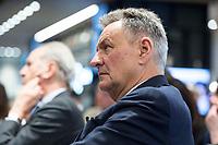 """29 MAR 2017, BERLIN/GERMANY:<br /> Michael Frenzel, Praesident des Wirtschaftsforums der SPD und ehem. Vorstandsvorsitzender der Preussag AG bzw. TUI AG, Veranstaltung des Wirtschaftsforums der SPD und der Business 20, B20: """"Global Governance in Zeiten der Globalisierungsskepsis - Impulse aus der G20-Wirtschaft"""", Quartier Zukunft der Deutschen Bank<br /> IMAGE: 20170329-02-148"""