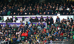 A general view of fans in the stands during the NatWest 6 Nations match at Twickenham Stadium, London.