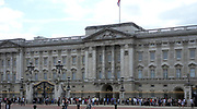 Buckingham Palace, London, is the official London residence of the British monarch. During the 19th century it was enlarged, principally by architects John Nash and Edward Blore, forming three wings around a central courtyard. Buckingham Palace finally became the official royal palace of the British monarch on the accession of Queen Victoria in 1837.