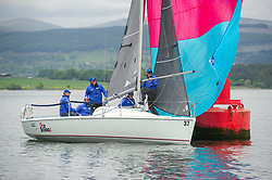 Day1, GBR 7037N, Old School, CCC, RGYC, Hunter 707<br /> <br /> The Scottish Series, hosted by the Clyde Cruising Club is an annual series of races for sailing yachts held each spring. Normally held in Loch Fyne the event moved to three Clyde locations due to current restrictions. <br /> <br /> Light winds did not deter the racing taking place at East Patch, Inverkip and off Largs over the bank holiday weekend 28-30 May. <br /> <br /> Image Credit : Marc Turner / CCC