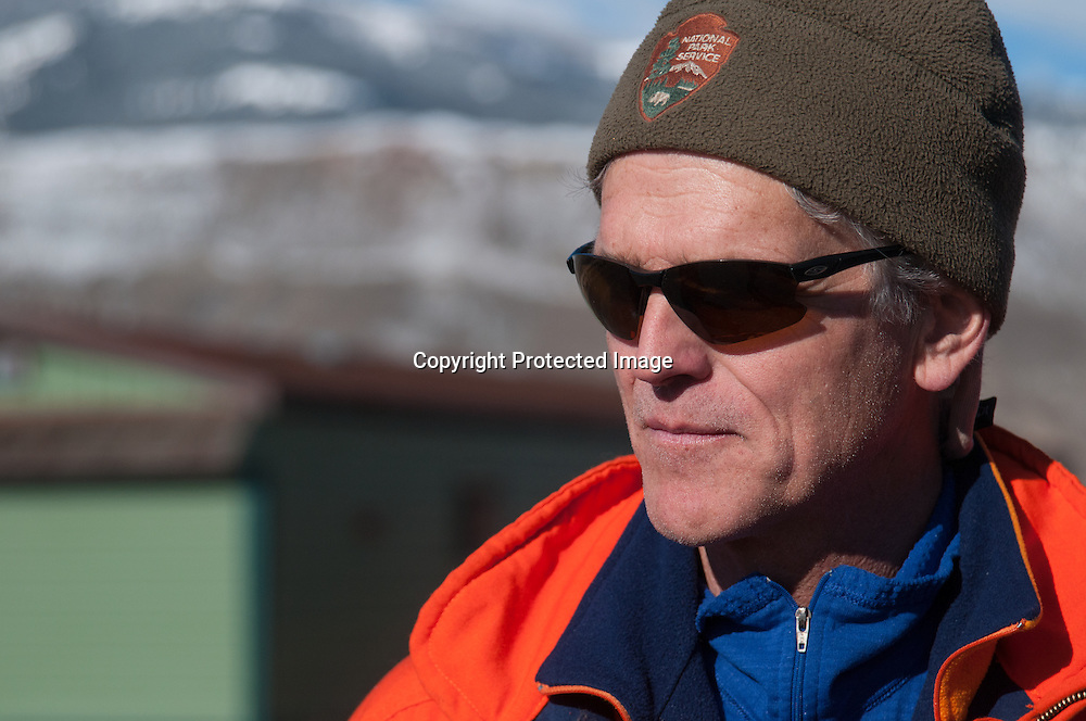 Dr. Douglas Smith, leader of the Yellowstone Wolf Project, in Yellowstone National Park.