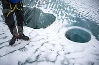 Glacier hike at Solheimajokull - Hekla. ©2019 Karen Bobotas Photographer