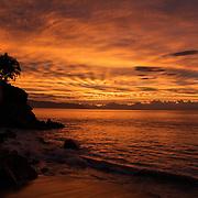 Sunset on the beach..Puerto Vallarta, Jalisco. Mexico