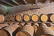 Domaine Borie la Vitarèle Causses et Veyran St Chinian. Languedoc. Barrel cellar. France. Europe.