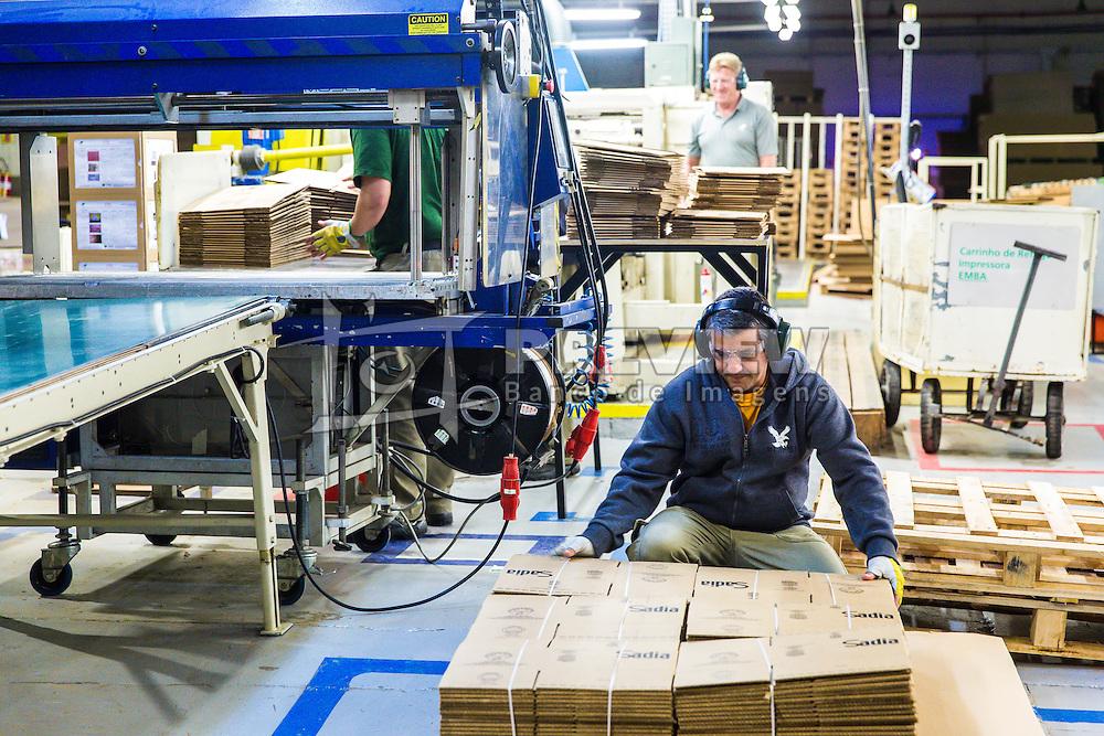 A Klabin, maior produtora e exportadora de papéis do Brasil, é líder na produção de papéis e cartões para embalagens, embalagens de papelão ondulado e sacos industriais, além de comercializar madeira em toras. A unidade de Itajaí tem capacidade de produção é de 88 mil toneladas/ano. FOTO: Jefferson Bernardes/ Agência Preview