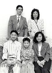 Vietnamese family, Nottingham UK 1991