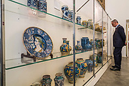 Ancient ceramic collection in the museum area of Palazzo Branciforte