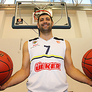 Fenerbahce Ulker's Omer Onan seen during their Euroleague Media Day at Fenerbahce Ulker Sports Arena in Istanbul, Turkey, Wednesday, September 26, 2012. Photo by TURKPIX