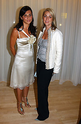 Left to right, ELLA KRASNER and BEATRICE WARRENDER at a party at The Sanderson Hotel, Bernnnnners Street, London in aid of Sargent Cancer Care for Children on 7th July 2004.