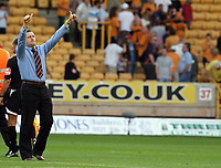 Photo: Paul Greenwood. <br />Wolverhampton Wanderers v Watford. Coca Cola Championship. 11/08/2007. <br />Watford manager Ady Boothroyd celebrates victory
