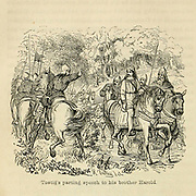 Tostig's parting speech to his brother Harold From the Book 'Danes, Saxons and Normans : or, Stories of our ancestors' by Edgar, J. G. (John George), 1834-1864 Published in London in 1863