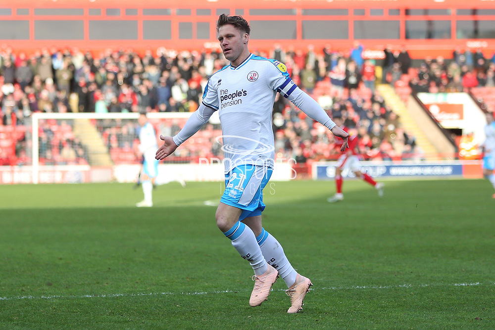 Dannie Bulman in action during the EFL Sky Bet League 2 match between Walsall and Crawley Town at the Banks's Stadium, Walsall, England on 18 January 2020.