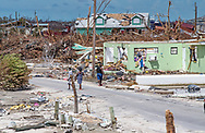 Destruction caused by Hurricane Dorian in Marsh Harbour on Abaco Island, seen on Sunday, September 8, 2019.