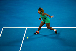 January 17, 2019 - Melbourne, VIC, U.S. - MELBOURNE, AUSTRALIA - JANUARY 17 : Serena Williams of ÊUnited States returns the ball during day 4 of the Australian Open on January 17 2019, at Melbourne Park in Melbourne, Australia.(Photo by Jason Heidrich/Icon Sportswire) (Credit Image: © Jason Heidrich/Icon SMI via ZUMA Press)