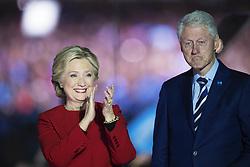 November 8, 2016 - Philadelphia, USA - 161107 Hillary Clinton och Bill Clinton under en kampanj fÅ¡r henne som USA:s president den 7 november 2016 i Philadelphia  (Credit Image: © Joel Marklund/Bildbyran via ZUMA Wire)