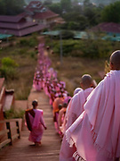 Pilgrimage, Nyaung Taung Monastery and Education Center, Hopone, Myanmar